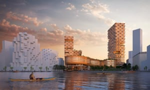 A render from Sidewalk Labs' controversial waterfront project in Toronto.
