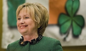 Hillary Clinton spoke at the Society of Irish Women's annual dinner on St Patrick's Day. She is working on a book of essays that will include reflections on her loss to Trump.