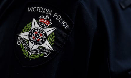 A Victorian Police badge
