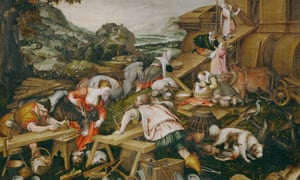 A detail from Building of the Ark (1588) by Kaspar Memberger the Elder.