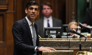 Chancellor Rishi Sunak in the House of Commons
