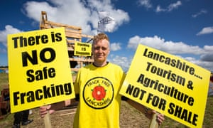 Fracking protesters at Little Plimpton, near Blackpool.