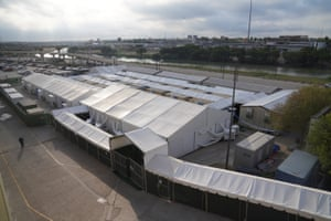 The immigration court tents in Laredo, Texas.