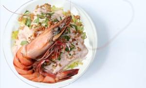 'Another goodun': lobster crayfish cocktail.