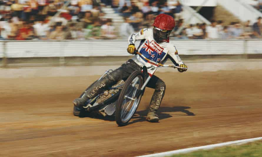 Ivan Mauger at the Belle Vue Stadium in Manchester, c1973.