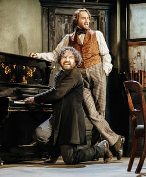 Shades of music hall … Rory Kinnear and Oliver Chris.