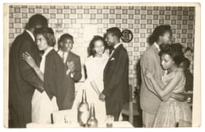 Genet and Mulugeta on their wedding day in the 1960s with their friends Konjit and Tesfay.