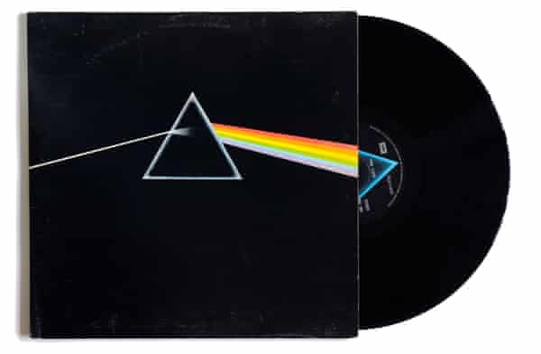 Pink Floyd's Dark Side of the Moon album cover, 1973