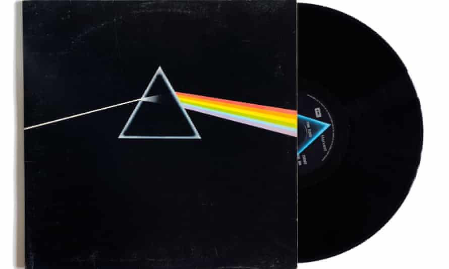 Album cover for Pink Floyd's The Dark Side of the Moon.