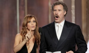 Kristen Wiig and Will Ferrell at the Golden Globes.