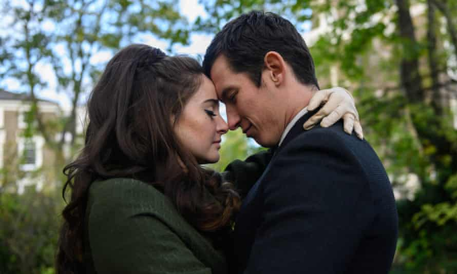 Leading light: in her latest film, Last Letter from Your Lover, with Callum Turner.
