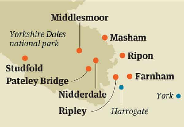 Yorkshire Dales map