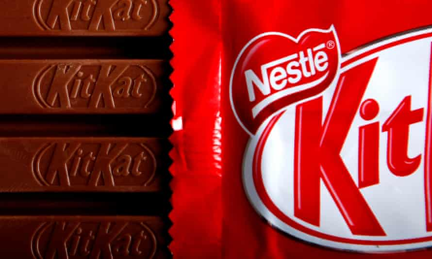 Bars of original KitKat chocolate