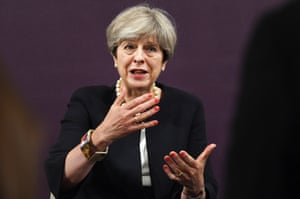 London, UK Prime Minister Theresa May delivers a speech on 'Modern Working Practices'