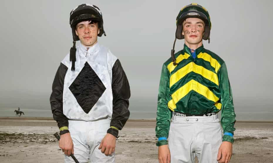 Young jockeys Danny Harnet, 15, and Jackie Mulvihill, 22