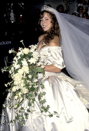 """Age 23 at her wedding to Tommy Mottola in 1993. """"Of course, I was inspired by Princess Diana. Who wasn't? I loved that wedding,"""" she said."""