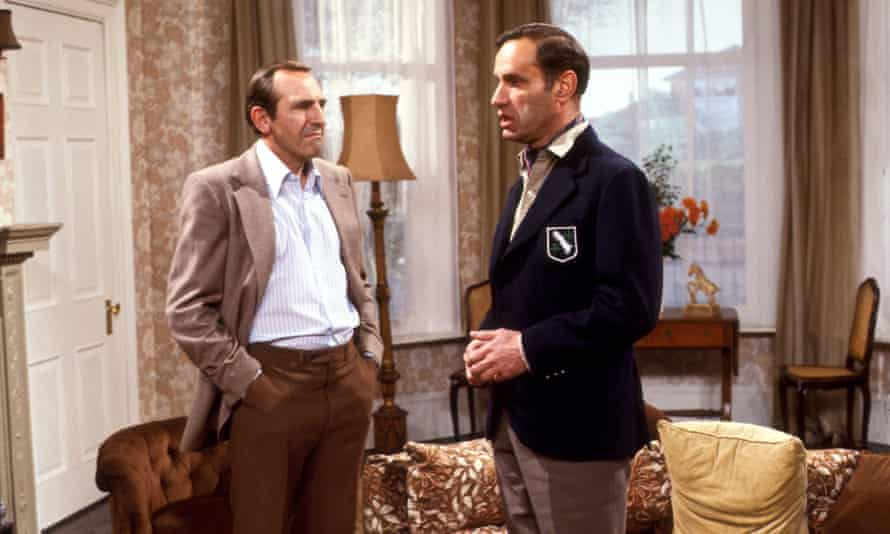 Geoffrey Palmer, right, with Leonard Rossiter in The Fall and Rise of Reginald Perrin, 1978.