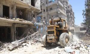 A ruined neighbourhood of Aleppo