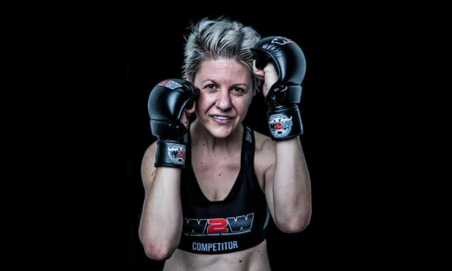 Julia Schaefer after a Wimp to Warrior training session at Chippendale, Sydney.