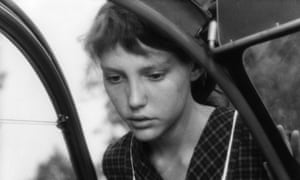 Anne Wiazemsky in Robert Bresson's Au Hasard Balthazar, 1966, about a farm-girl's emotional connection with her pet donkey.