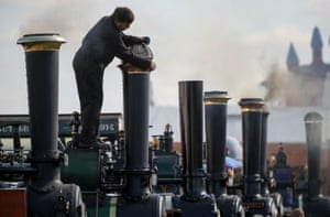 Dorset, EnglandThe Clayton & Shuttleworth locomotive is polished on day one of the 2019 Great Dorset Steam fair