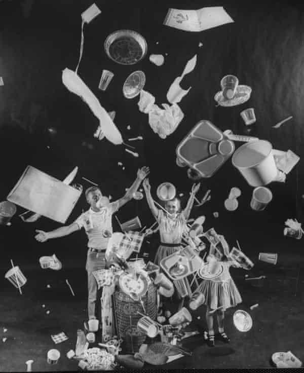 An 1955 image from Life magazine endorsing 'throwaway living'.