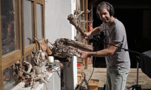 Even sound effects are produced using natural materials