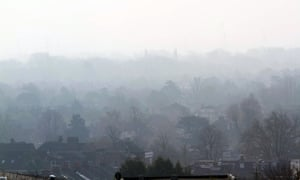 Wimbledon, London. pollution hanging in the air