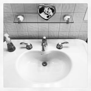 ... and the heart-shaped sink in the bathroom