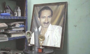 A portrait of Jagendra Singh at his family home.
