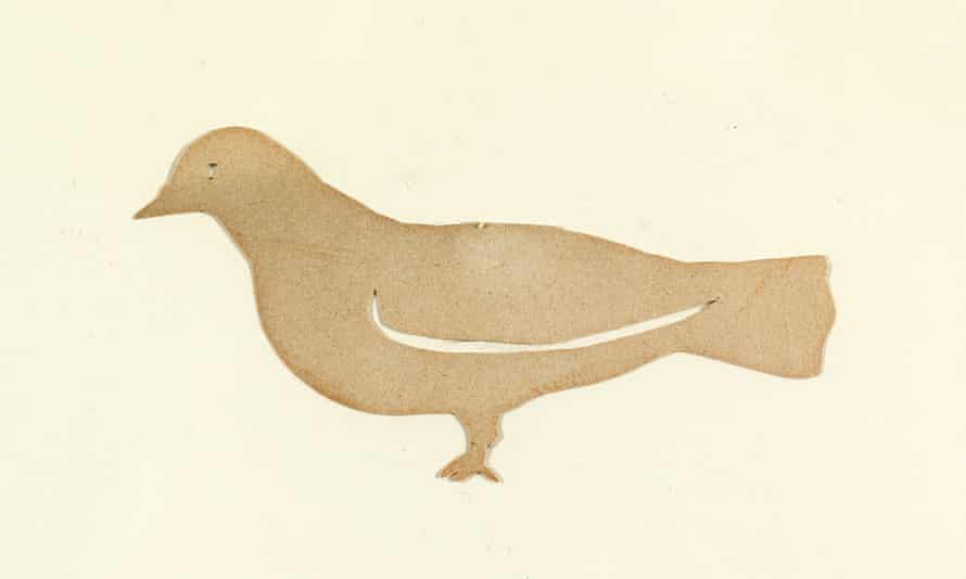 a dove cut out by Pablo Picasso as a child, Málaga, c1890.