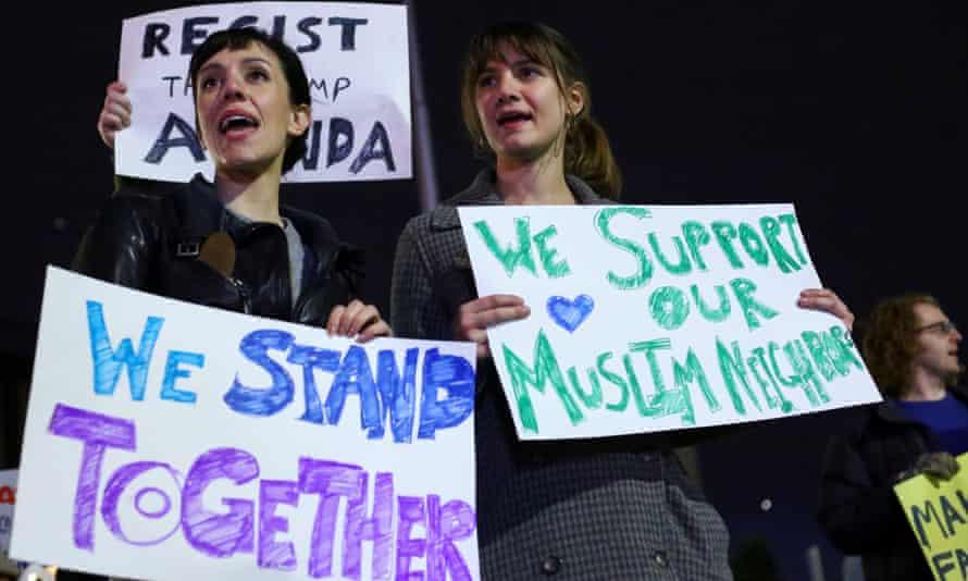 Pro-Muslim demonstration Trump