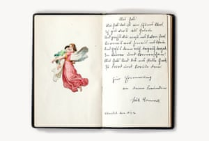 'Poesiealbum', a collection of poems and well-wishes written in the journal of a German girl in the 1920s, cover: 8 x 5 in.