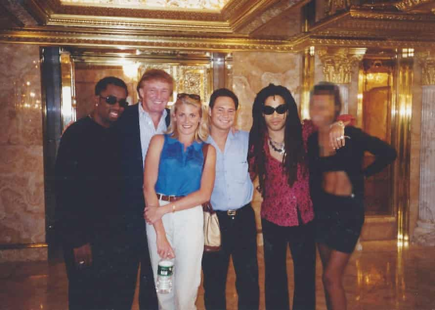 Posing with Puff Daddy and Lenny Kravitz at Trump Tower.