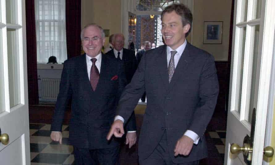 John Howard meets with British PM Tony Blair at No 10 in July 2000.