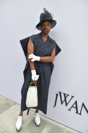 Billy Porter at JW Anderson's show at London fashion week spring/summer 2020