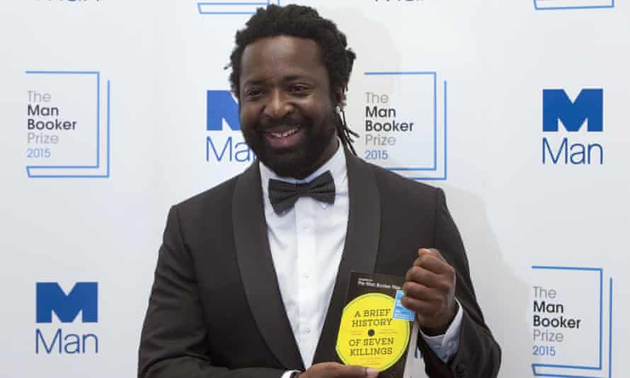 Marlon James receives last year's Booker prize for A Brief History of Seven Killings.