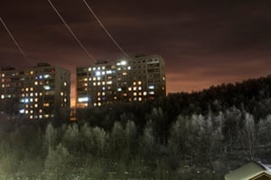 Apartment blocks on the outskirts of Murmansk