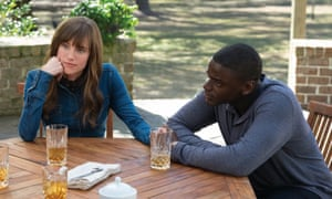 Daniel Kaluuya and Allison Williams as Chris and Rose in Get Out.