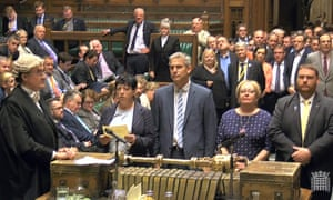 MPs deliver the result of the Commons vote on whether to replace the Trident weapons system.