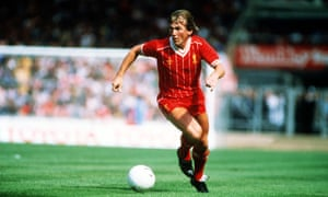 Kenny Dalglish playing for Liverpool in the 1982 Charity Shield.