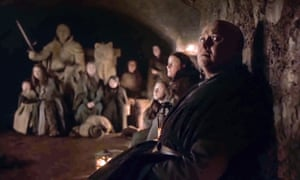Varys in the Winterfell crypts.