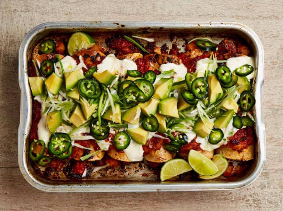 Yotam Ottolenghi's spicy lamb and potato enchiladas.