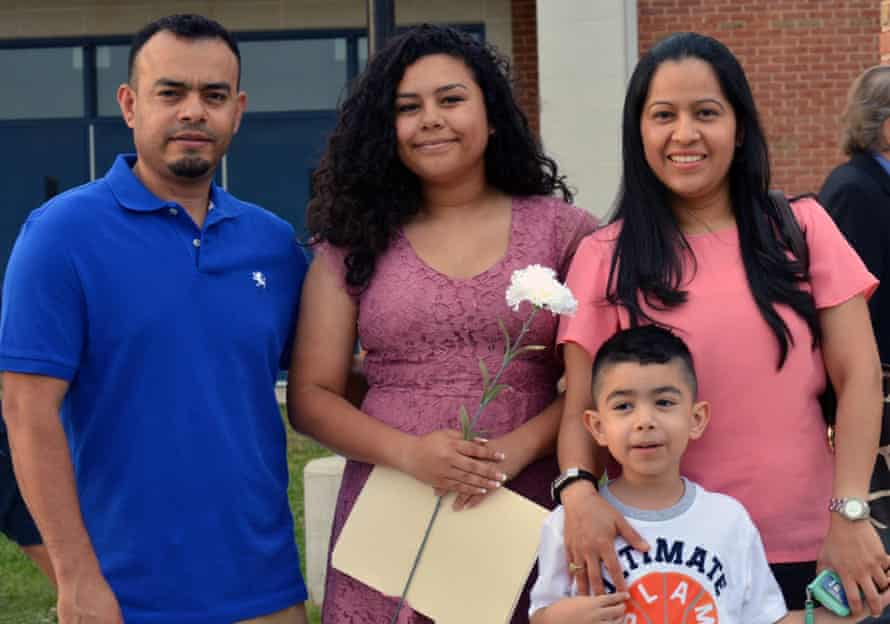 Angel Ortiz with his family.