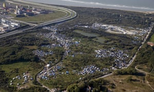An aerial view of the jungle