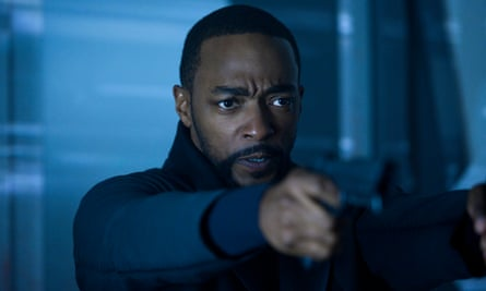 Anthony Mackie as Takeshi Kovacs in Altered Carbon season two.