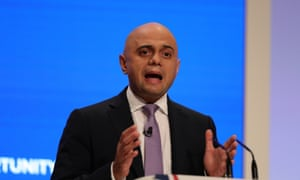 Sajid Javid at the 2018 Conservative party conference