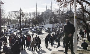 Police forces cordoned a large area Explosion in Sultanahmet Square. At least 10 people have been killed in an explosion in Sultanahmet Square of Istanbul popular with tourists, the city authorities say.