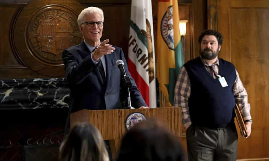 Ted Danson and Bobby Moynihan in Mr Mayor