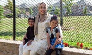 Rameeka Khan, pictured with her two children, is a pharmacist of Pakistani descent. She has lived in Markham nearly her whole life.